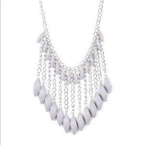Venturous Vibes – Silver Necklace Earrings Set